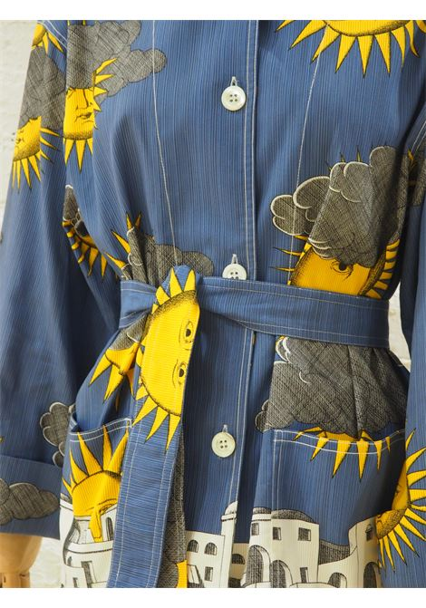 Fornasetti sun and cloud linen jacket with belt NWOT Fornasetti | Jackets | AT02025SDF0BLU
