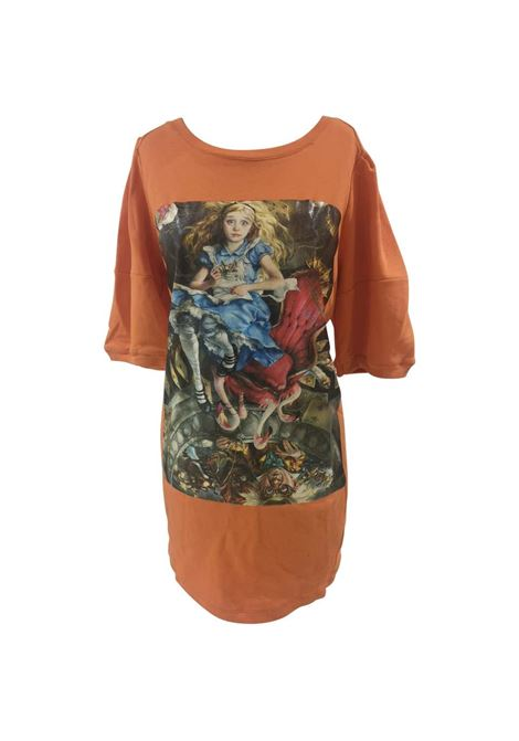 Gli Psicopatici orange Alice in Wonderland dress / sweater Gli Psicopatici | Felpa | FELPAALICE