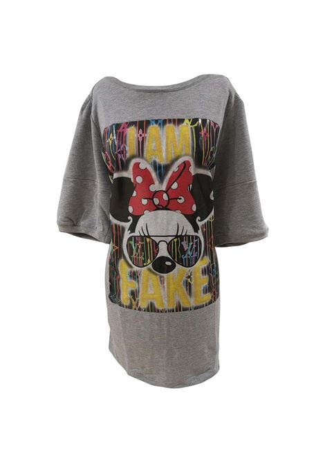 Gli Psicopatici I am Fake Minnie cotton long dress / sweater Gli Psicopatici | Sweaters | FELPAFAKE