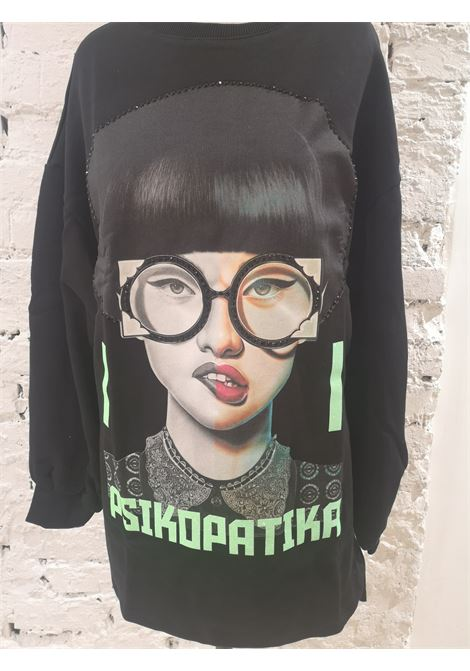 Gli Psicopatici Psikopatika black lond dress / sweater Gli Psicopatici | Sweaters | FELPAPSICOPA