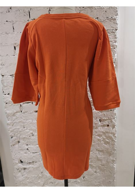 Gli Psicopatici orange long dress / sweater Gli Psicopatici | Felpa | FELPASOFIA PANNA