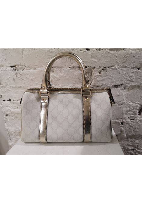Gucci white gold leather hardware speedy case bag Gucci | Bags | AT020ZAA25DC0SBIANCO