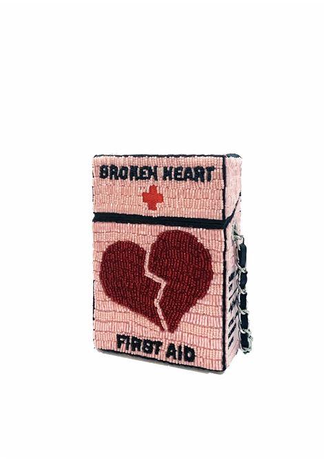 Mini hand-beaded Broken heart first aid cross body bag House of Muamua | Borsa | CIGARETTE MINIFIRST AID