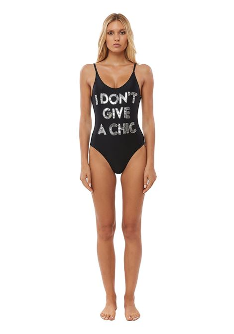 Hand-beaded I don't give a chic one piece swimsuit House of Muamua | Costume | COSTUMEI DONT GIVE