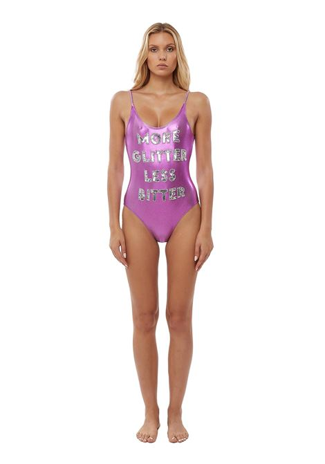Hand-beaded More glitter less bitter one piece swimsuit House of Muamua | Costume | COSTUMEMORE GLITTER