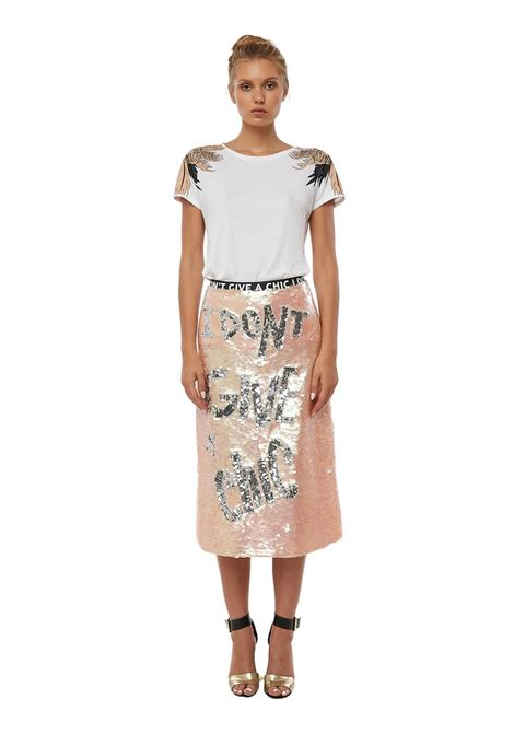 Hand-beaded a-line skirt I Don't Give A Chic Pink House of Muamua | Skirts | IDONTGIVEPINK