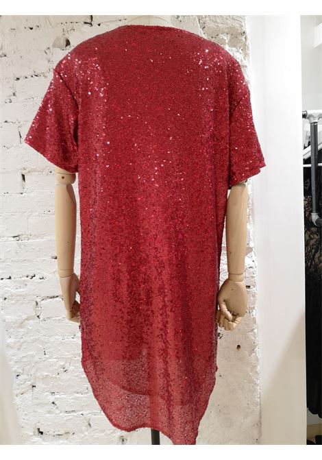 House of Muamua red sequins I don't give a chic dress House of Muamua | Abito | MAXI TEEIDONT