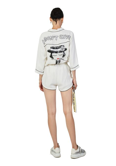 Cupro pajama shorts White House of Muamua | Shorts | PIJAMA SHORTBIANCO CUPRO