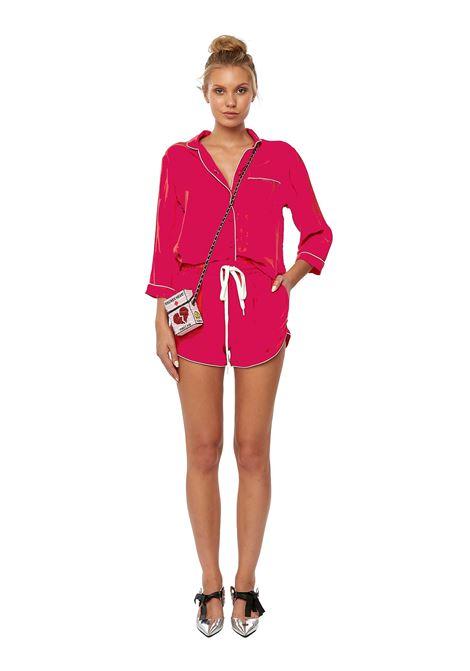 Cupro pajama shorts Fuchsia House of Muamua | Shorts | PIJAMA SHORTCUPRO