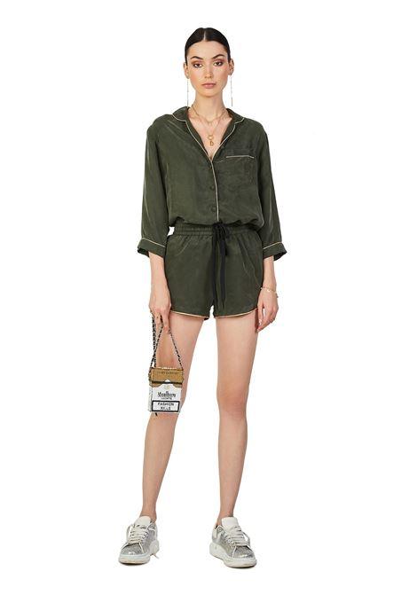 Cupro pajama shorts Olive House of Muamua | Shorts | PIJAMA SHORTKAKI CUPRO