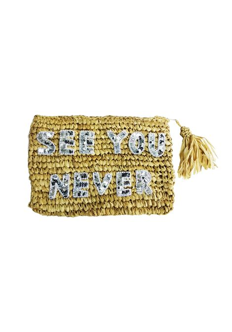 House of Muamua | Borsa | RAFFIA ZIP POCHETTESEE U NEVER