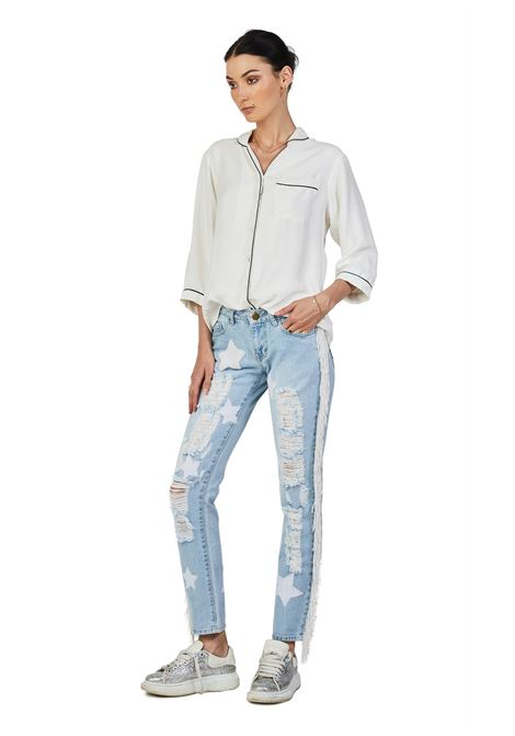 House of Muamua Stars beads and fringes denim House of Muamua | Jeans | STARS BEADSDENIM