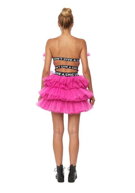 Tulle mini dress  'I DON'T GIVE A CHIC'  House of Muamua | Dresses | TULLE MINIFUXIA