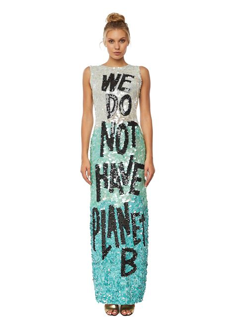 Hand-beaded sequin long dress House of Muamua | Abito | WEDONOTHAVEPLANETB