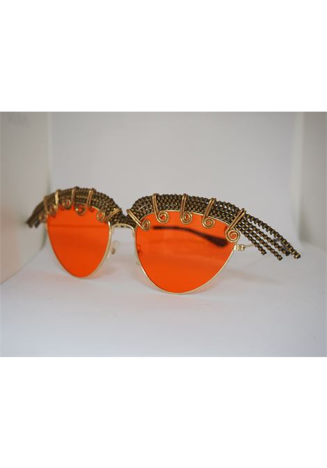 Handmade Kommafa orange sunglasses