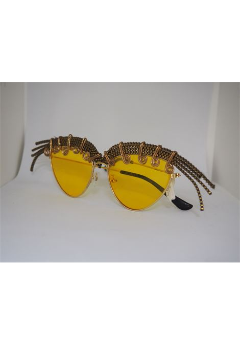 Handmade Kommafa yellow sunglasses