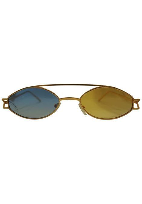 Kommafa Unique bicolour sunglasses Kommafa | Sunglasses  | BICOLOR GOLDGIALLO BLU