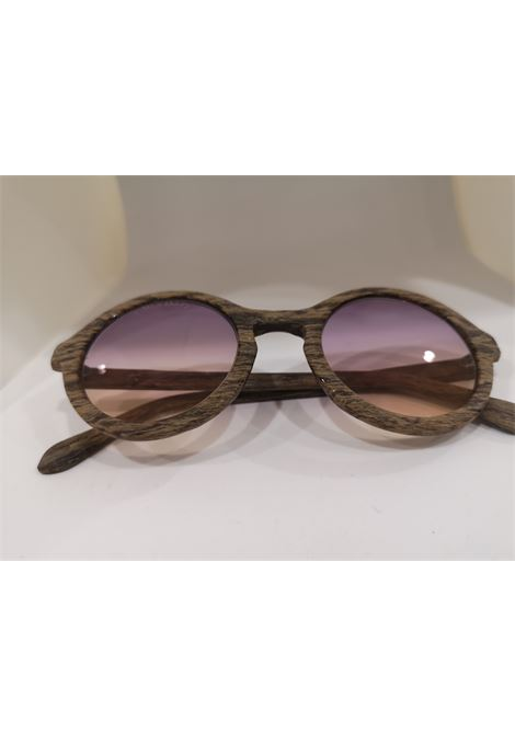 Kommafa purple yellow lens wood sunglasses Kommafa | Occhiali | TORTOISEARANCIO