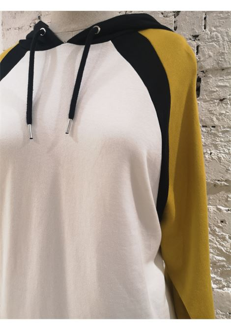 Kueen White , yellow black lion hoodie / sweater