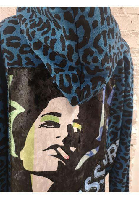 Kueen blue animalier sweater / hoodie Kueen | Felpa | FELPABLU
