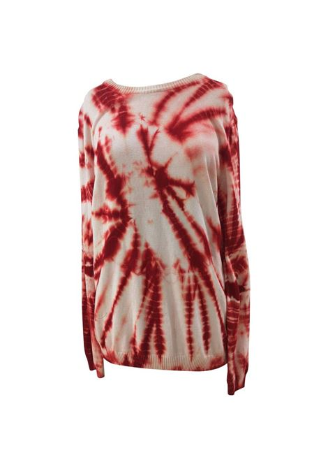Kueen white red scandal sweater Kueen | Sweaters | PULL IN FILOBIANCO ROSSO