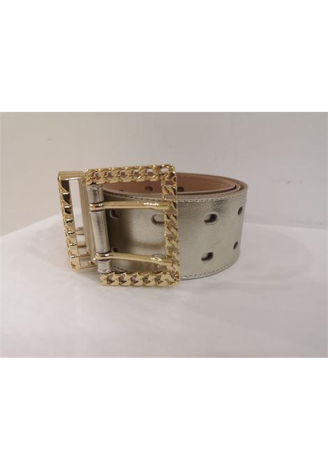 Gold leather and gold hardware belt Laino | Belts | AA1253BIANC