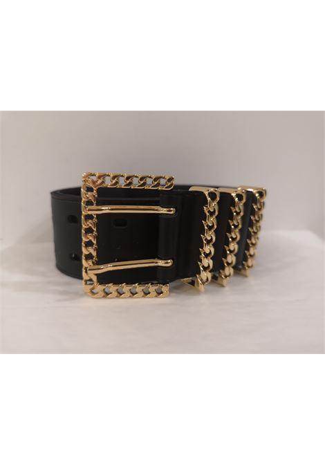 Black leather and gold hardware belt Laino | Cintura | AA1253NERO
