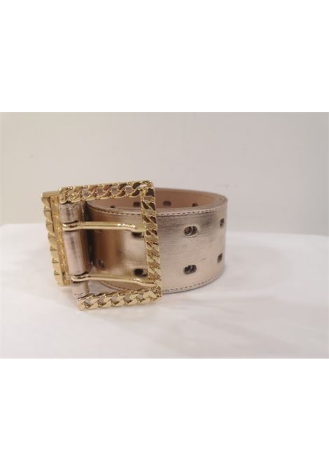 Rose gold leather and gold hardware belt Laino | Cintura | AA1253ORO ROSA