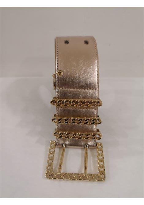 Rose gold leather and gold hardware belt  Laino | Belts | AA1253ORO ROSA