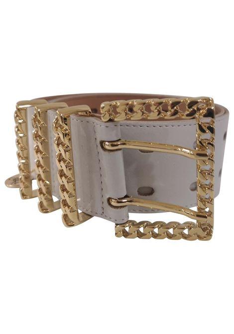 White leather and gold hardware belt Laino | Belts | AA1253STELLE BOCCIOLI