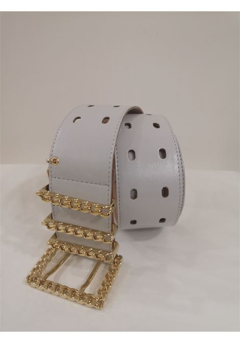 White leather and gold hardware belt Laino | Cintura | AA1253STELLE BOCCIOLI