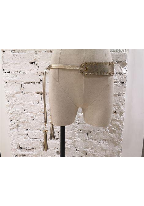 Gold tone leather laces swarovski belt Laino | Cintura | AA1347LACCI ORO