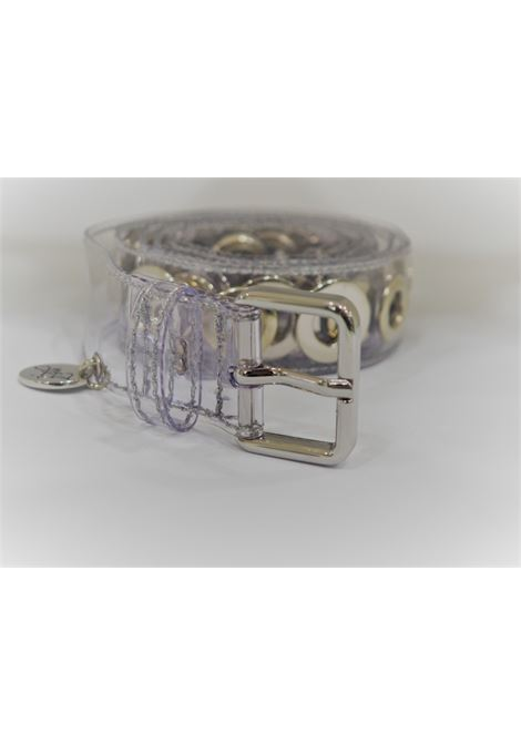 See-through gold hardware belt  Laino | Belts | AA1360PVC