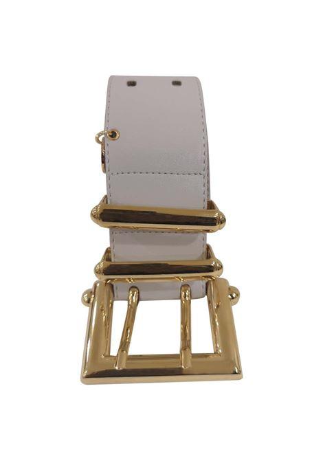 White leather gold hardware belt Laino | Cintura | AA1377BIANCO