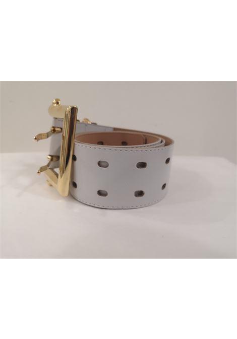 White leather gold hardware belt  Laino | Belts | AA1377BIANCO