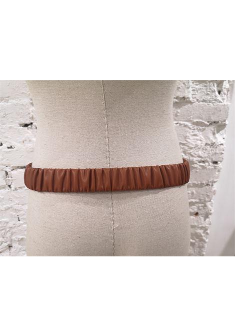 Brown leather swarovski hearts belt Laino | Belts | AA1454MARRONE