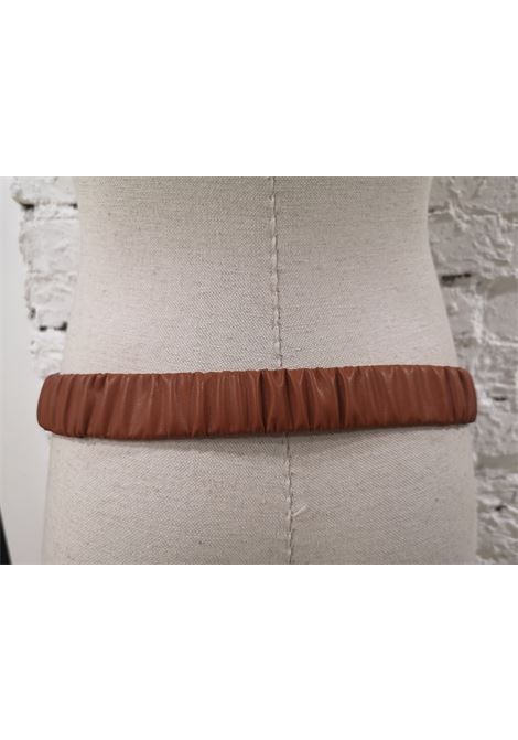 Brown leather gold buckle shell belt Laino | Belts | AA1506MARRONE