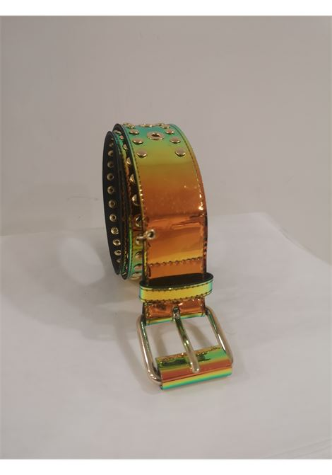 Orange Patent Leather handmade belt Laino | Cintura | AA1520ARANCIO