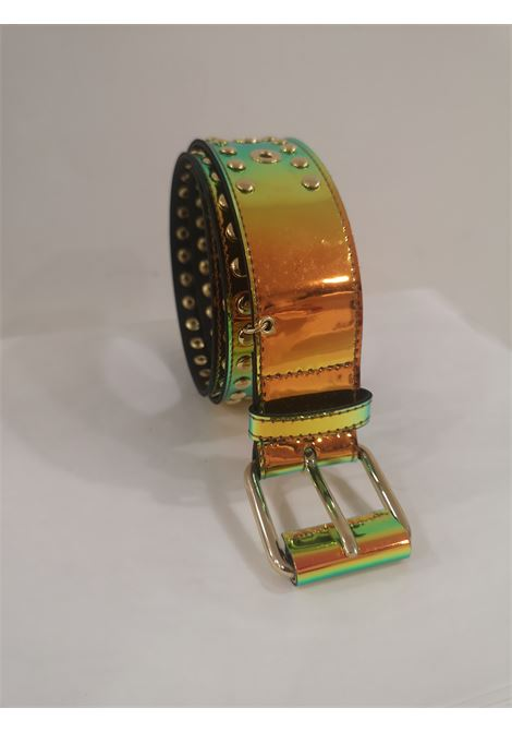 Orange Patent Leather handmade belt Laino | Belts | AA1520ARANCIO