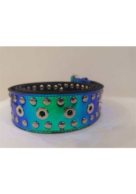Blue Patent Leather handmade belt Laino | Cintura | AA1520BLU