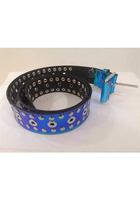 Blue Patent Leather handmade belt Laino | Belts | AA1520BLU
