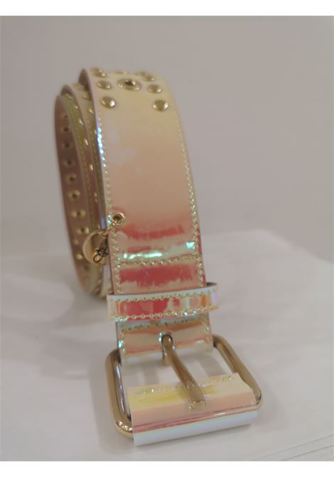 Pink Patent Leather handmade belt Laino | Belts | AA1520ROSA