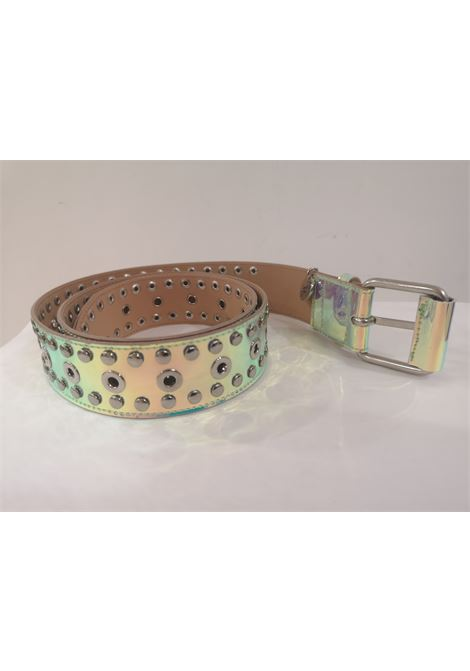 Green Patent Leather handmade belt Laino | Belts | AA1520VERDE