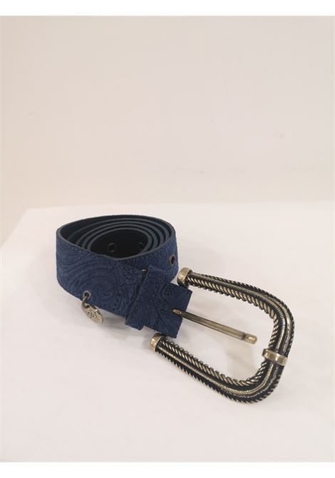 Blue leather suede belt Laino | Belts | AA1522BLU