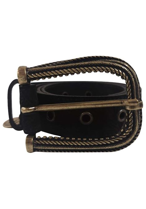 Black leather suede belt  Laino | Belts | AA1522NERO