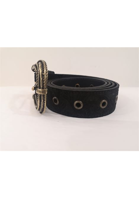Black leather suede belt Laino | Cintura | AA1522NERO