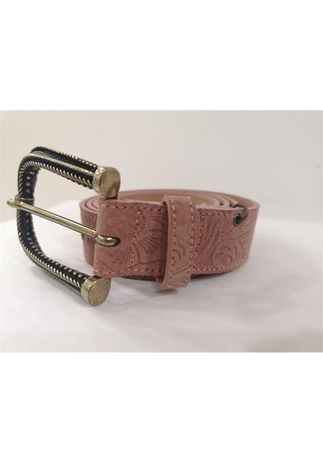 Pink leather suede belt Laino | Cintura | AA1522ROSA