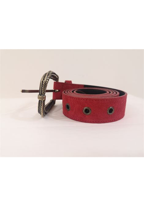 Red leather suede belt  Laino | Belts | AA1522ROSSO