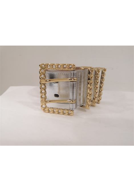 Silver leather gold hardware handmade belt Laino | Cintura | AA1522SILVER