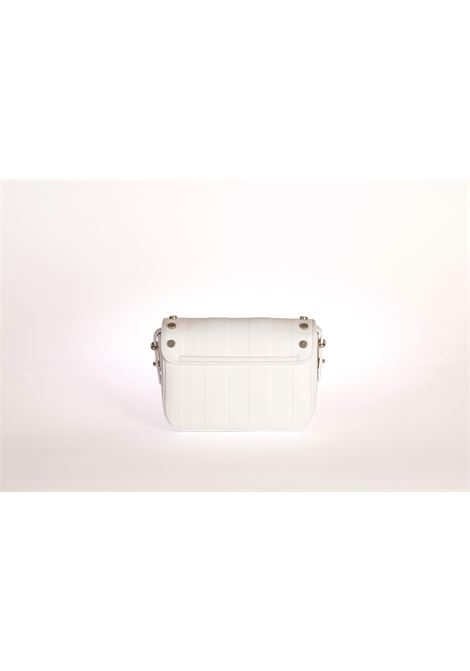 Midi Silvia white stripes ledeff | Bag | SILVIA STRIPESBIANCA